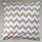 "Cushion Cover in Riley Blake Chevron Grey White Stripe 14"" 16"" 18"" 20"""